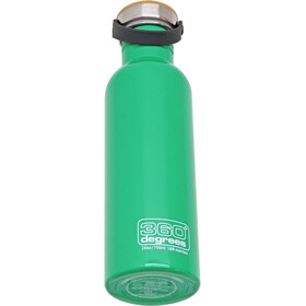 360° degrees Stainless Borraccia con tappo in bamboo, 750ml, spring green